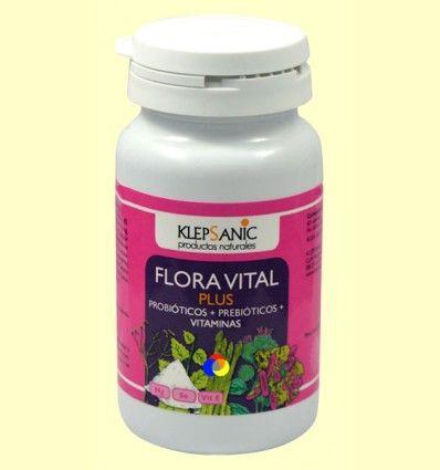 Flora Vital Plus - Probióticos y Prebióticos - Klepsanic - 60 cápsulas