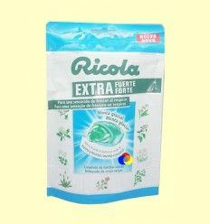 Caramelos Ricola Extra Fuerte Menta Glaciar - Ricola - 61 gramos