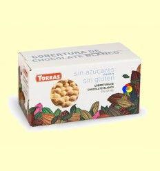 Cobertura de Chocolate Blanco en Gotas sin Azúcar - Torras - 1000 gramos