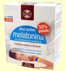Melatonina Plus Active - Naturmil - 60 + 30 comprimidos