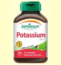 Potassium 100 mg - Potasio - Jamieson - 100 comprimidos