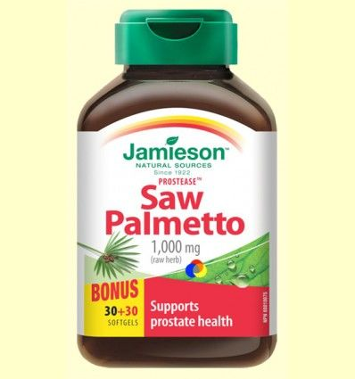 Prostease - Saw Palmetto 125 mg - Jamieson - 30 + 30 cápsulas *
