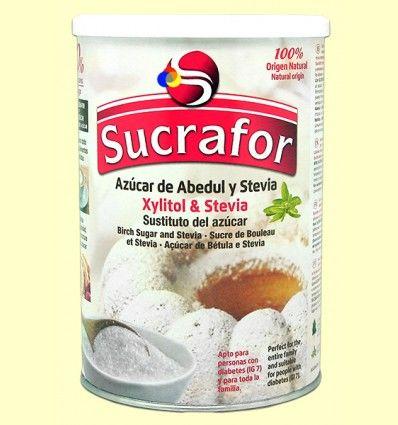 Azúcar de Abedul y Stevia - Sucrafor - 800 gramos