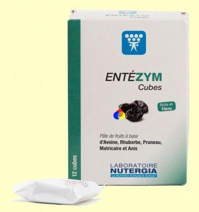 Entezym Masticable - Transito intestinal - Nutergia - 12 cubos *