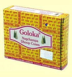 Incienso Nagchampa Dhoop Cones - Goloka - 10 conos