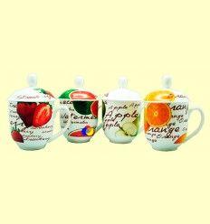 Taza con Tapa Diseño Frutas de Verano - Cha Cult - 1 unidad