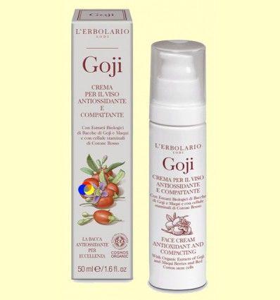 Crema para la cara antioxidante y tonificante Goji - L'Erbolario - 50 ml