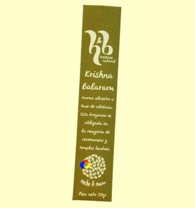 Incienso Natural Krishna Balaram - H&B - 20 gramos