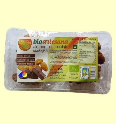 Galletas integrales Ecológicas con Almendra y Pepitas de Chocolate - Horno Natural - 130 gramos
