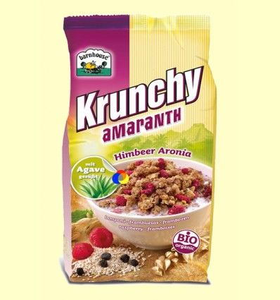 Krunchy de Amaranto con Frambuesas y Aronia Bio - Barnhouse - 375 gramos