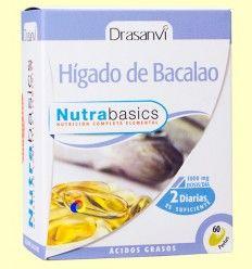 Hígado de bacalao Nutrabasics - Drasanvi - 60 perlas