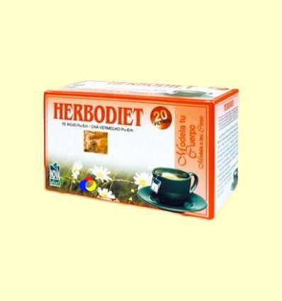 Infusión Herbodiet Modela tu Cuerpo - Novadiet - 20 bolsitas filtro
