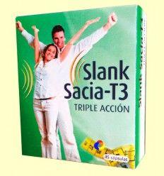 Slank Sacia T3 Triple Acción - Espadiet - 45 cápsulas
