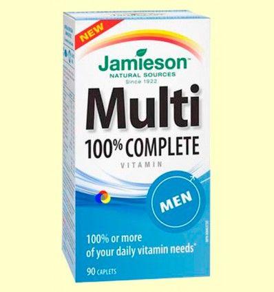 Multi 100% Complete Men - Suplemento Vitamínico - Jamieson - 90 cápsulas