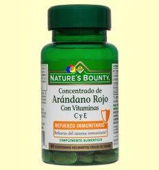 Concentrado de Arándano Rojo Con Vitaminas C y E - Nature's Bounty - 60 comprimidos
