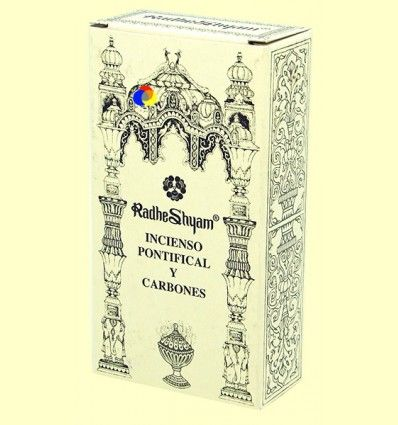 Incienso Pontifical y Carbones - Radhe Shyam - 50 g + 10 uds