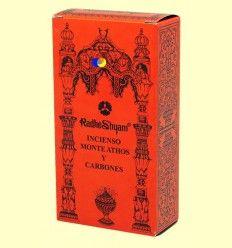Incienso Monte Athos y Carbones - Radhe Shyam - 50 g + 10 uds