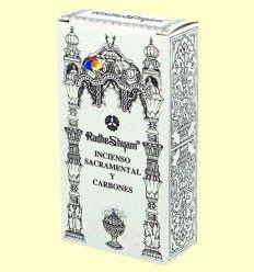 Incienso Sacramental y Carbones - Radhe Shyam - 50 g + 10 uds