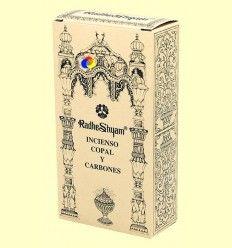 Incienso Copal y Carbones - Radhe Shyam - 50 g + 10 uds