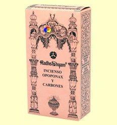 Incienso Opoponax y Carbones - Radhe Shyam - 50 g + 10 uds