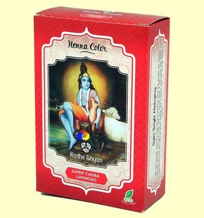 Henna Super Caoba Luminoso Polvo - Radhe Shyam - 100 gramos
