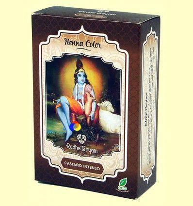 Henna Castaño Intenso Polvo - Radhe Shyam - 100 gramos