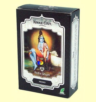 Henna Negro Polvo - Radhe Shyam - 100 gramos