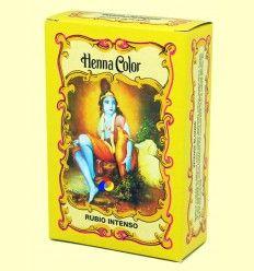 Henna Rubio Intenso Polvo - Radhe Shyam - 100 gramos