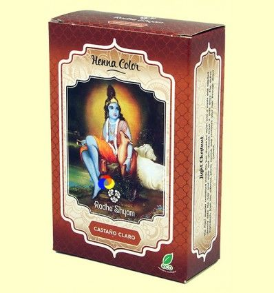 Henna Castaño Claro Polvo - Radhe Shyam - 100 gramos