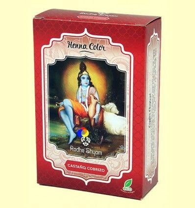 Henna Castaño Cobrizo Polvo - Radhe Shyam - 100 gramos