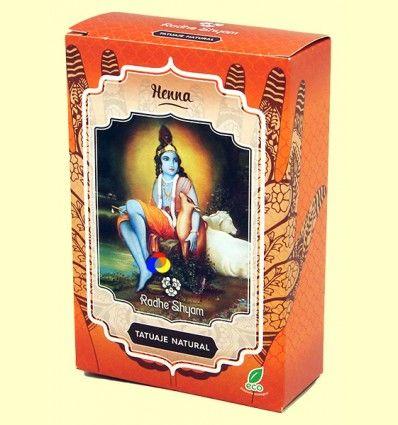Henna Tatuaje Natural Polvo - Radhe Shyam - 50 gramos