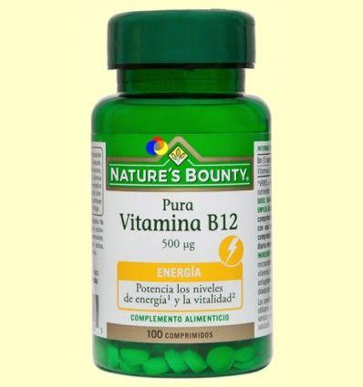 Pura Vitamina B12 500 ug - Nature's Bounty - 100 comprimidos