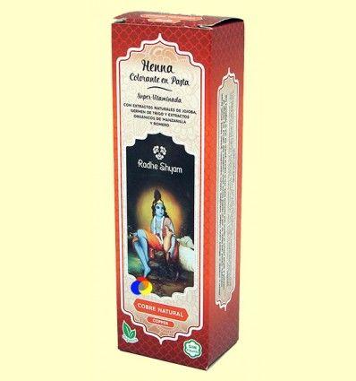Henna Cobre Natural Pasta - Radhe Shyam - 200 ml