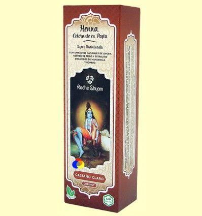 Henna Castaño Claro Pasta - Radhe Shyam - 200 ml *