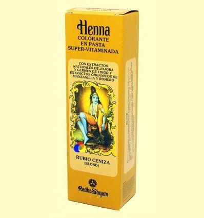 Henna Rubio Ceniza Pasta - Radhe Shyam - 200 ml