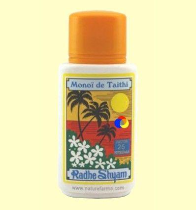 Aceite Protector Solar Monoï de Tahiti Factor 25 - Radhe Shyam - 150 ml
