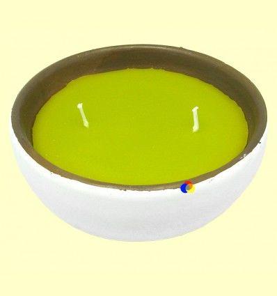 Vela Citronela Bol Cerámica Doble Mecha - Aromalia - 14 cm