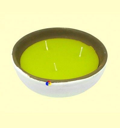 Vela Citronela Bol Cerámica Triple Mecha - Aromalia - 19 cm
