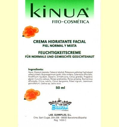 Crema Hidratante Facial Piel Normal y Mixta Kinua