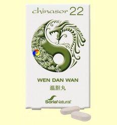 Chinasor 22 - WEN DAN WAN - Soria Natural - 30 comprimidos