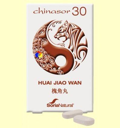 Chinasor 30 - HUAI JIAO WAN - Soria Natural - 30 comprimidos *