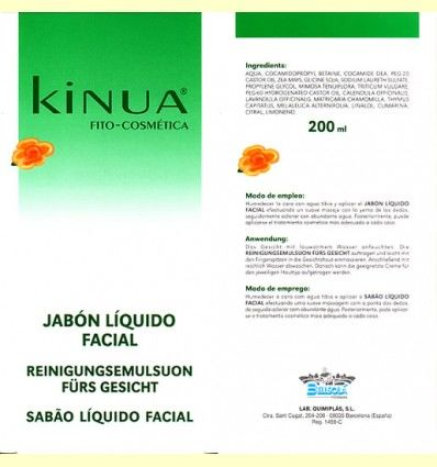 Jabón Líquido Facial 200ml de Kinua