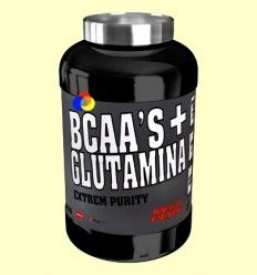 BCAAS + Glutamina Extrem Purity - Melocotón - Mega Plus - 600 gramos