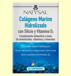 Colágeno Marino Hidrolizado Con Silicio y Vitamina D3 - Natysal - 80 comprimidos