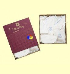 Conjunto Recién Nacido Algodón Orgánico New Born Azul - The Dida Baby - 6 piezas