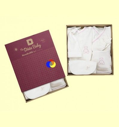 Conjunto Recien Nacido Algodón Orgánico New Born Rosa - The Dida Baby - 6 piezas