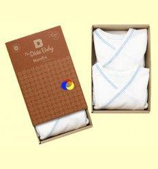 Bodis Kimono Algodon Orgánico Nones Azul - The Dida Baby - Pack 2 unidades