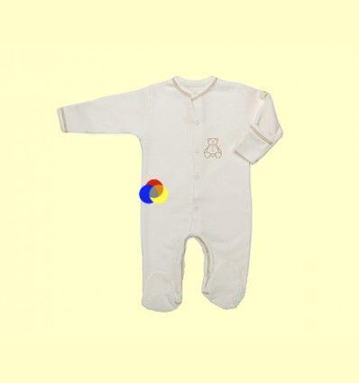 Pijama de Algodón Orgánico Nones Marrón Talla 0 - The Dida Baby - 1 unidad