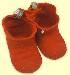 Botines Lana Merino Naranja - The Dida Baby - 3 a 6 meses