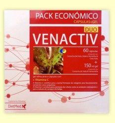 Venactiv Duo Pack Económico - Dietmed - 60 cápsulas - 150 ml Gel